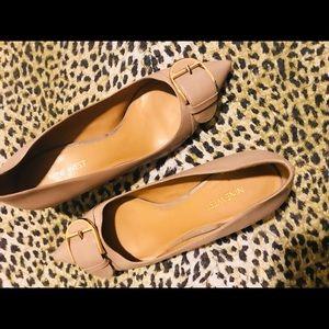 Shoes - Light brow Nine West short heel shoes